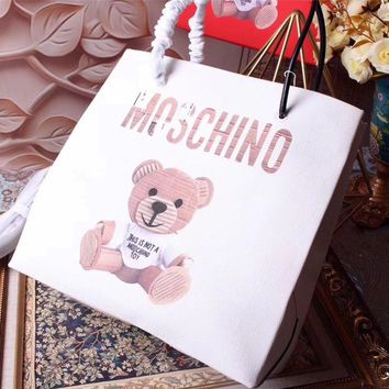 Moschino Teddy Beer Leather Tote Bag #42401 - Best Deal Online