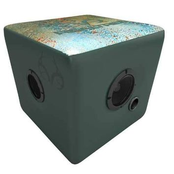 Rainmaker Realtree Bluetooth Speaker Ottoman-Aqua