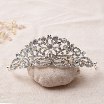 Accessory Leaf Korean Alloy Crown Wedding Dress Hair Accessories Prom Dress [6258316230]