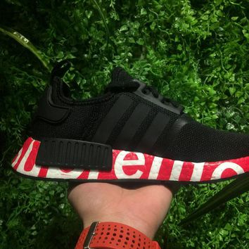 Best Online Sale Supreme Sup x Adidas NMD R1 Black/Red Runner PK Boost Fashion Trending Sport Running Shoes Casual Shoes Sneakers
