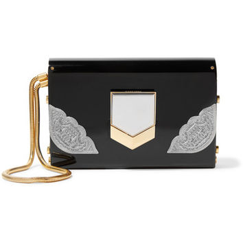 Jimmy Choo - Lockett small embellished acrylic clutch