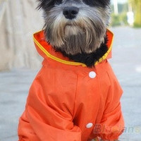Winter Waterproof Pet Dog Hooded Hoodie Raincoat Slicker Dust Coat Clothes L/M/S [8789882055]