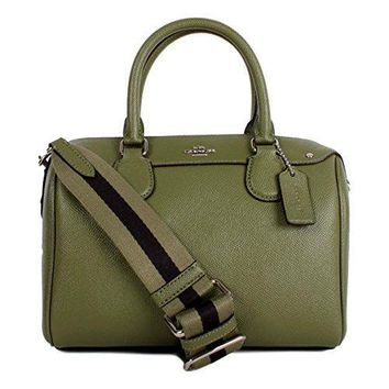 Coach Mini Bennett Satchel In Crossgrain Leather With Webbed Strap F11808