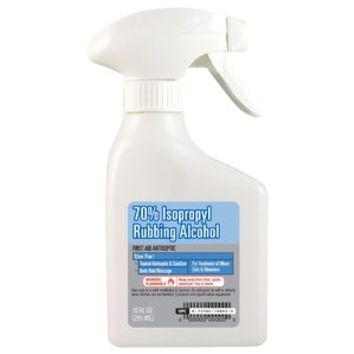 Walmart: 70% Isopropyl Rubbing Alcohol, 10 oz