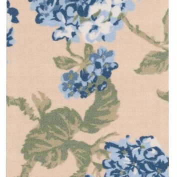 Waverly Sun & Shade Yellow Blue Indoor/Outdoor Area Rug by Nourison