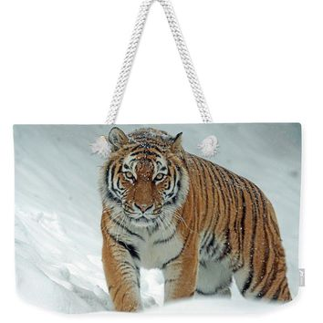 Tiger In Winter - Weekender Tote Bag