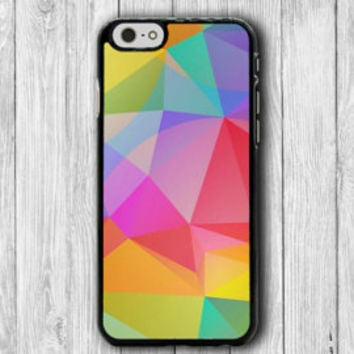 Geometric Colorful Triangle Abstract Shape iPhone 6S iPhone 6 Case iPhone 5S Cover iPhone 4 / 4S Personalized Customized Color Transparent