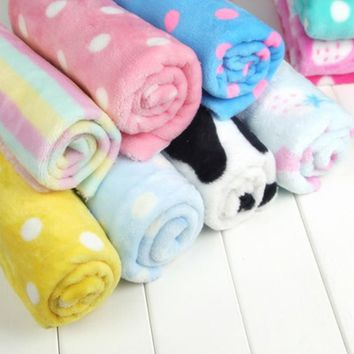 Colorful fleece flannel fabric Cartoon soft Blanket DIY for sewing warm Garment Pajamas Craft Printed Manual cloth Home 160*50cm