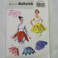 BUTTERICK Retro 54 Womens Apron Sewing Pattern B5435 Size XY (Sml-Med-Lrg) Unused Uncut