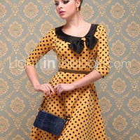 TS VINTAGE Polka Dot Jersey Dress