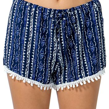 Tribal Trimmed Shorts