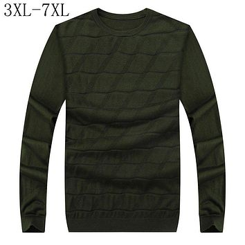 Size 6XL 7XL 2017 New Autumn Winter Mens Christmas Sweater Male Casual Pullovers Jumper Long Sleeve Mens Knitted Sweaters