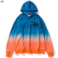 STUSSY Tide brand new tie dyed gradient hooded sweater #2
