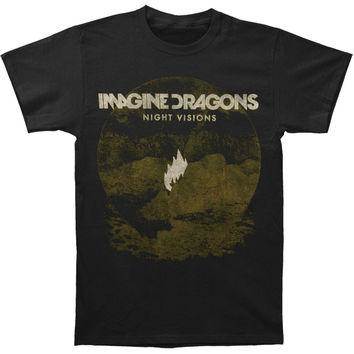 Imagine Dragons Men's  Flame Black T-shirt Black Rockabilia