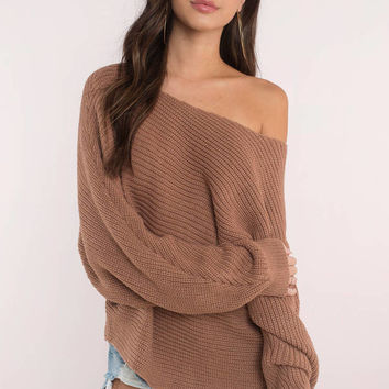 Time Will Tell Asymmetrical Sweater