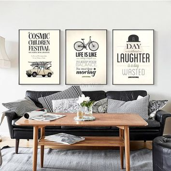 Pairs Vintage Quote Poster Print Canvas Painting For Living Room Wall Picture Modern Nordic Art Home Decor 3 Piece No Frame