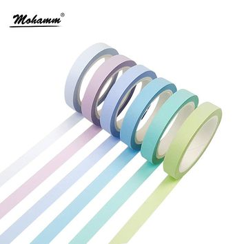 8mm Width Colorful Rainbow Japanese Decorative Scotch Adhesive Tape Masking Washi Tape Diy Scrapbooking Tools Sticker Label