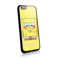 Cute Spongebob Best Friends for Best Iphone and Samsung Galaxy Case (iphone 6 black)