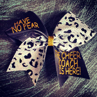Black and gold coach cheer bow