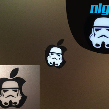 Storm trooper Macbook Pro Starwars decal - Stormtrooper Star wars - Vinyl Decal - Jedi Force - CHOOSE A COLOR! - Mac book