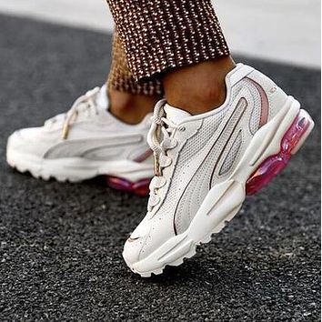PUMA CELL STELLAR SOFT Fashionable Women Casual Running Sport Shoes Sneakers Beige&Pink