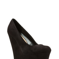 High And Mighty Faux Suede Wedges GoJane.com