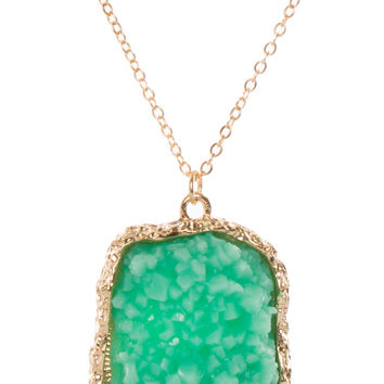 Seraphina Crystal Pendant Necklace - Teal