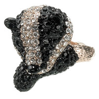 Bettie Badger Ring | Black | Accessorize