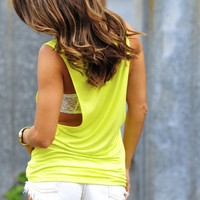 Stay By My Side Top: Chartreuse | Hope's