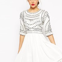 ASOS Embellished Armour Skater Dress