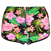 Neena Tropical Print Runner Shorts