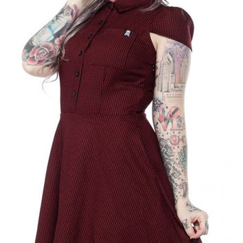 Oxblood Check Dress | Blame Betty