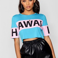 Colour Block Slogan T-Shirt | Boohoo