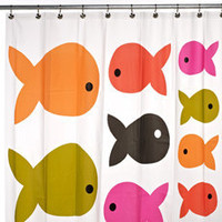 Fish Safari PEVA Shower Curtain - Bed Bath & Beyond