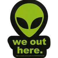 Loungefly We Out Here Alien Sticker