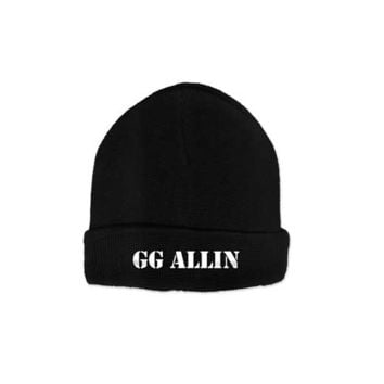 GG Allin Knit Beanie In Black | Thirteen Vintage