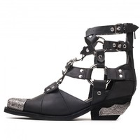 Jeffrey Campbell 'Temeku 2', wshed leather, hardware bootie