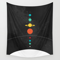 The Solar System Wall Tapestry by John David Harris