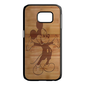 Mickey Mouse Wooden Samsung Galaxy S6 Edge Case