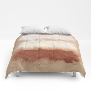 Rothko Inspired Spiced Berry Canyon Dusk 001 Modern Art #society6 Comforters by Corbin Henry