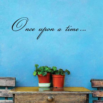 1PC Once upon a time Wall Stickers Vinyl Lettering Wall Decal Prevent Decor Removable High Quality Art Sticker Waterproof Mural