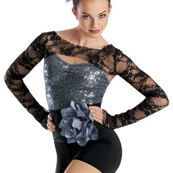 Lace Shrug Sequin Leotard -Weissman Costumes