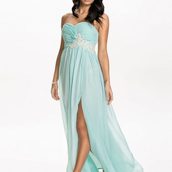Strapless Tie Back Dress, NLY Eve