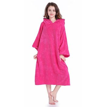 Changing Robe Surf Poncho Bath Towel With Hood Staying Warm Soft Water absorption For Adults Man And Women Vs gym Bathroom