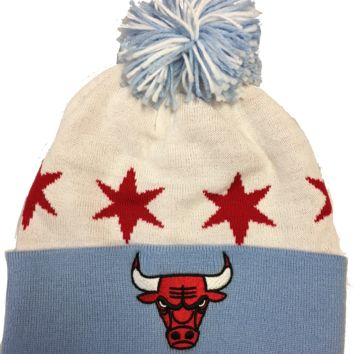 Chicago Bulls Chicago Flag Star Knit Hat