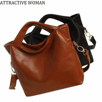 Sales Promotion!2017 Russia Women's Leather Bag Big Shoulder Bags Women Messenger Bags Handbags Women Famous Brand Female Bag