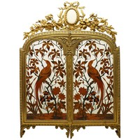 Fine and Rare Ivory Inlaid Marquetry Triptych Table Mirror