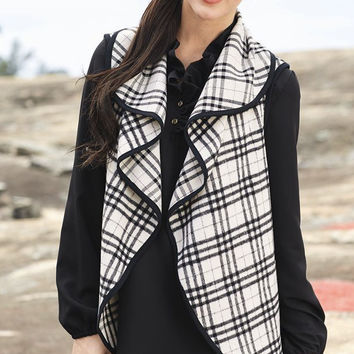 Mad For Plaid Vest - Black/White