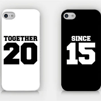 Together Since (Your Year) - Custom Couple Cases - Full printed case for iPhone - by HeartOnMyFingers - CPL-009