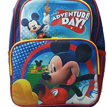 """New Mickey Mouse Adventure Day Blue Large 16"""" School Bag/Knapsack/Backpack"""